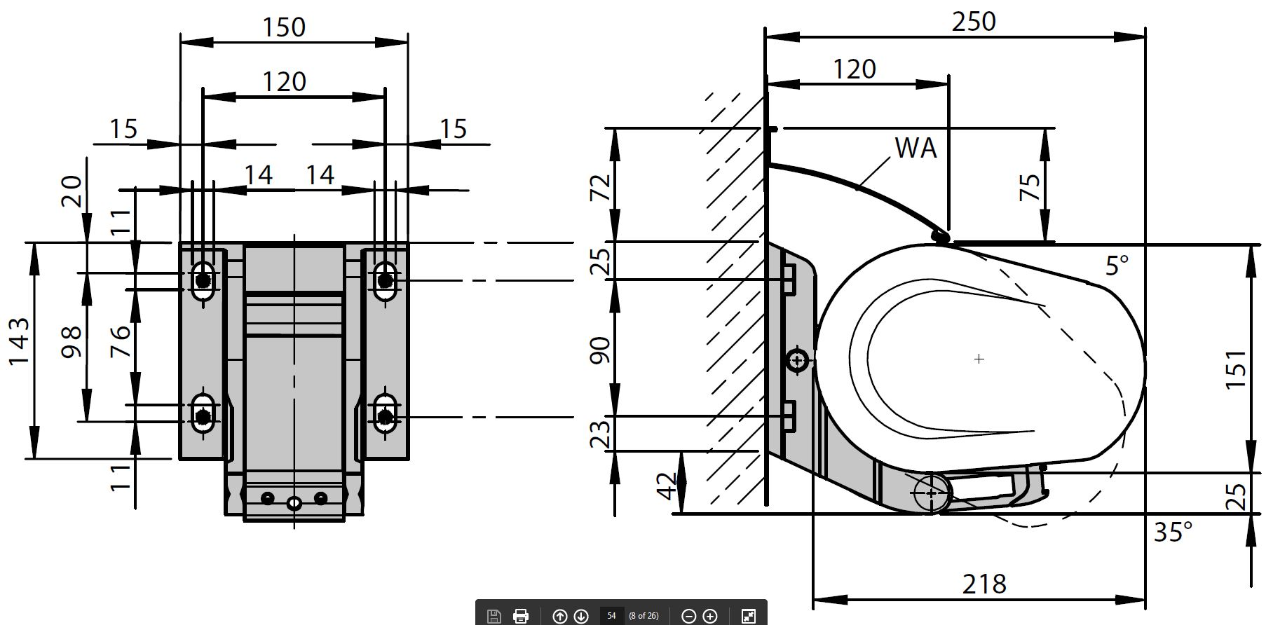 5010 awning dimensions and fixing points