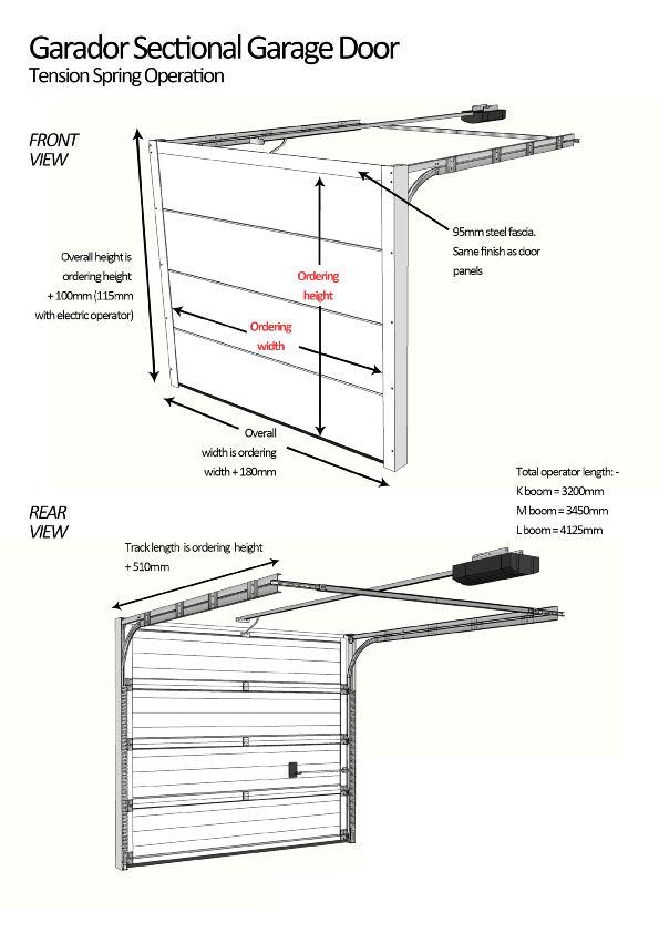 Sectional Garage Door Construction Details : Georgian small classic garador steel sectional garage