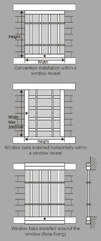Seceuroshield Removable Window Bars Sws Steel Security