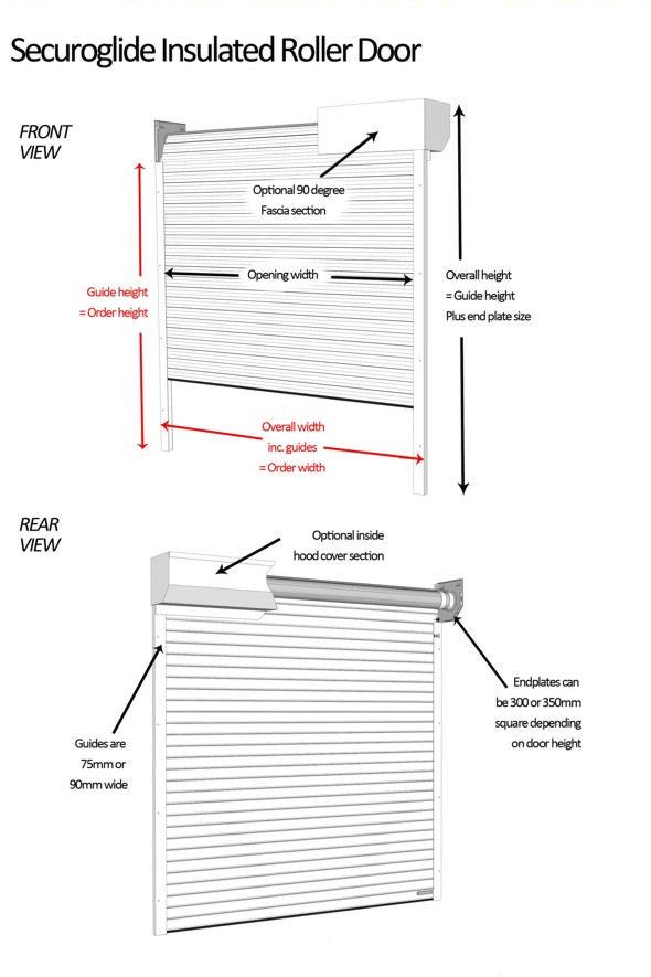 seceuroglide manual - colour finish seceuroglide aluminium roller garage doors