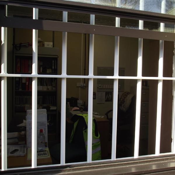 Steel Fixed Windows : Seceuroshield fixed window bars sws steel security