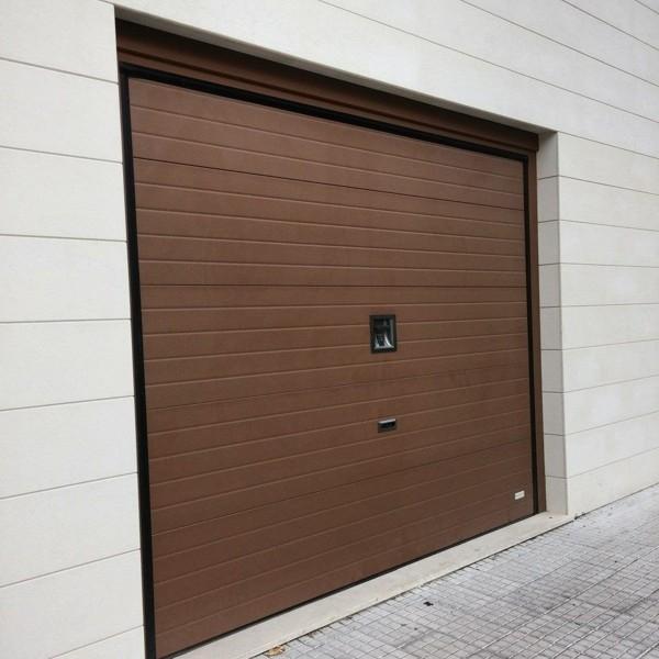 Delta Sound Woodgrain Finish Delta Steel Overlap Trackless Garage Doors |  Samson Doors Online Shop