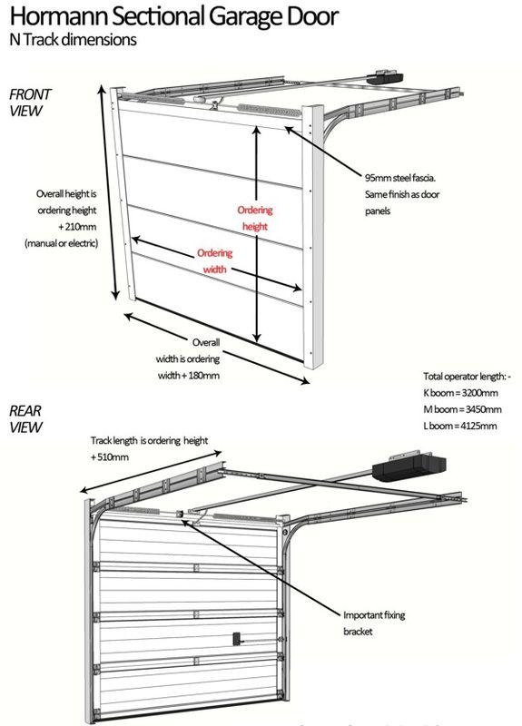 Hormann Sectional Garage Door N track Measuring Guide