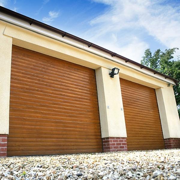 Seceuroglide Roller Door Woodgrain Finish Seceuroglide Aluminium