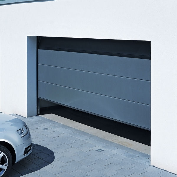 Lpu42 L Ribbed Titan Metallic Ch703 Hormann Steel Sectional Garage