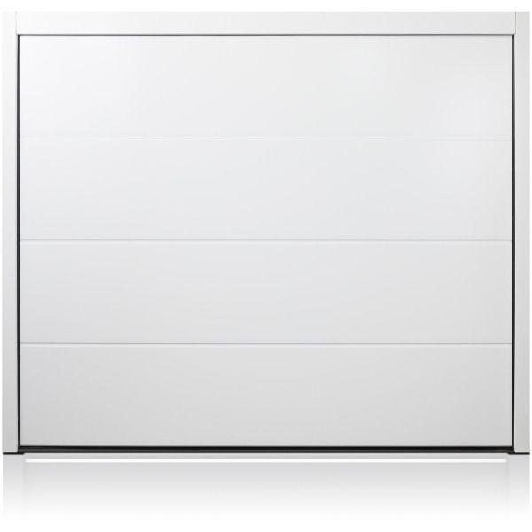 Solid White Carteck Steel Sectional Garage Doors Samson