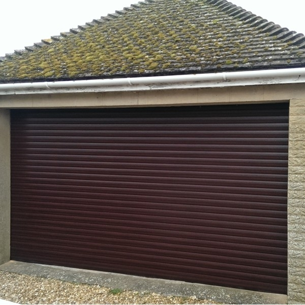 Roller Door With Full Hood And Laminate Woodgrain Finish Gliderol